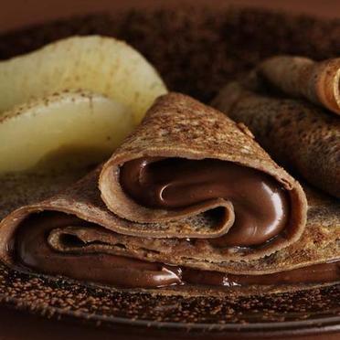 Crêpes légères au chocolat noisette